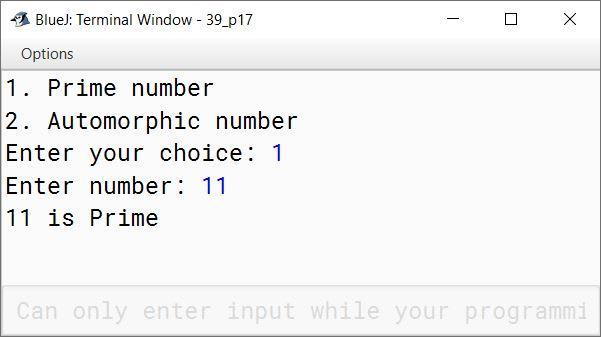 BlueJ output of KboatPrimeAutomorphic.java