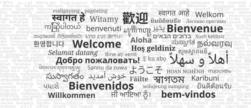 Multi-lingual hello to explain unicode in ICSE Computer Applications course