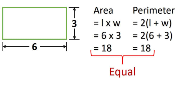 Area and Perimeter of Rectangle with sides 6 and 3 ICSE Computer Applications Java Bluej