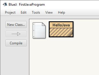 Uncompiled class in BlueJ Window