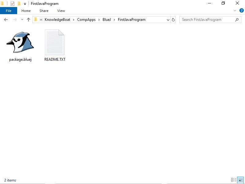 BlueJ Project Folder