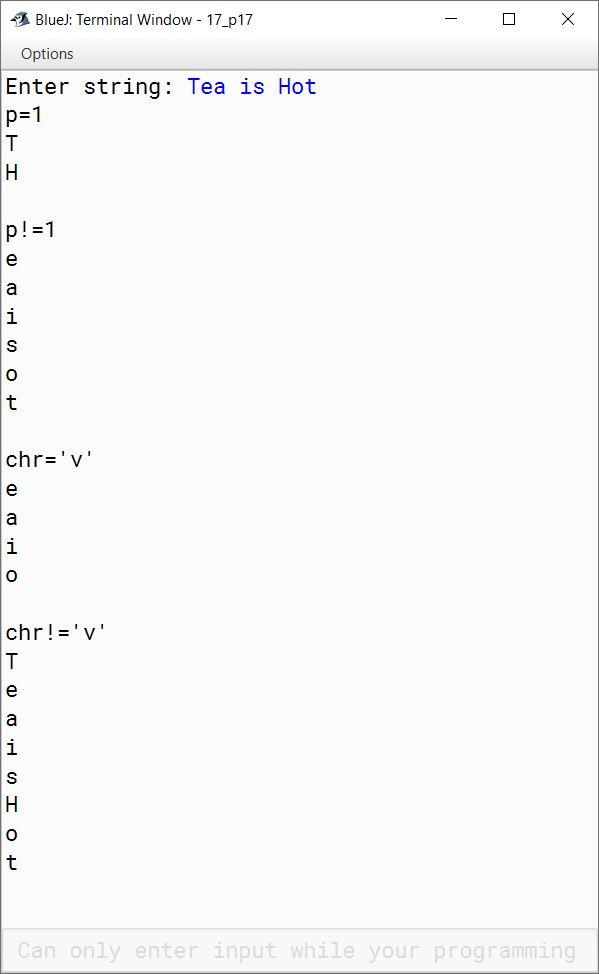 BlueJ output of Overloading.java