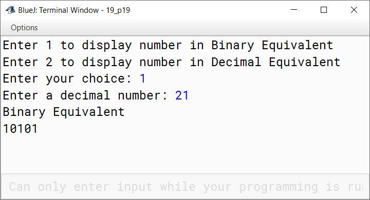 BlueJ output of KboatBinary.java
