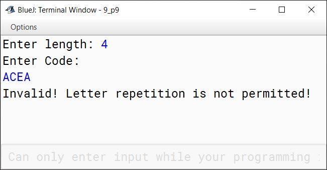 BlueJ output of KboatCodeCheck.java