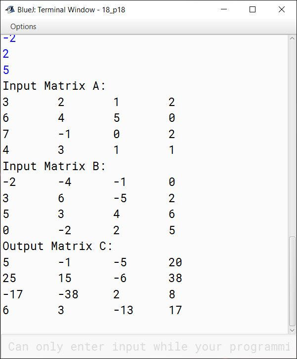 BlueJ output of KboatDDAMultiply.java