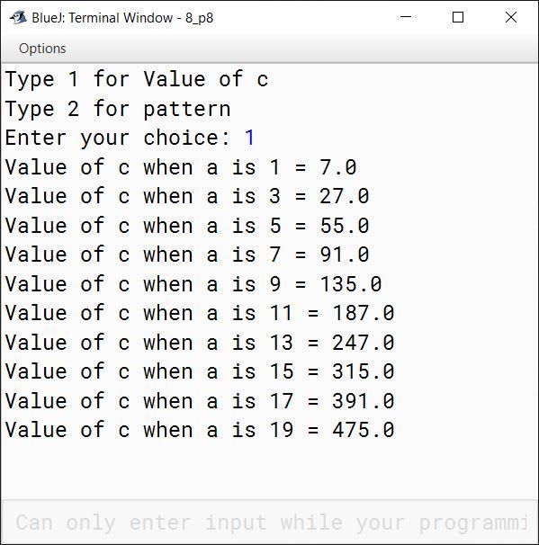 BlueJ output of KboatMenu.java