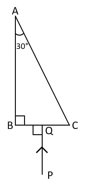 Complete the path of ray PQ through the glass prism ABC as shown in figure till it emerges out of the prism. Refraction of light at plane surfaces, Concise Physics Class 10 Solutions.
