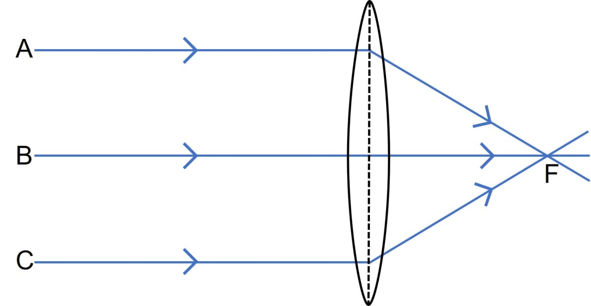 How does the action of the convex lens differ from that of a concave lens on a parallel beam of light incident on them? Draw diagrams to illustrate your answer. Refraction through a lens, Concise Physics Class 10 Solutions.