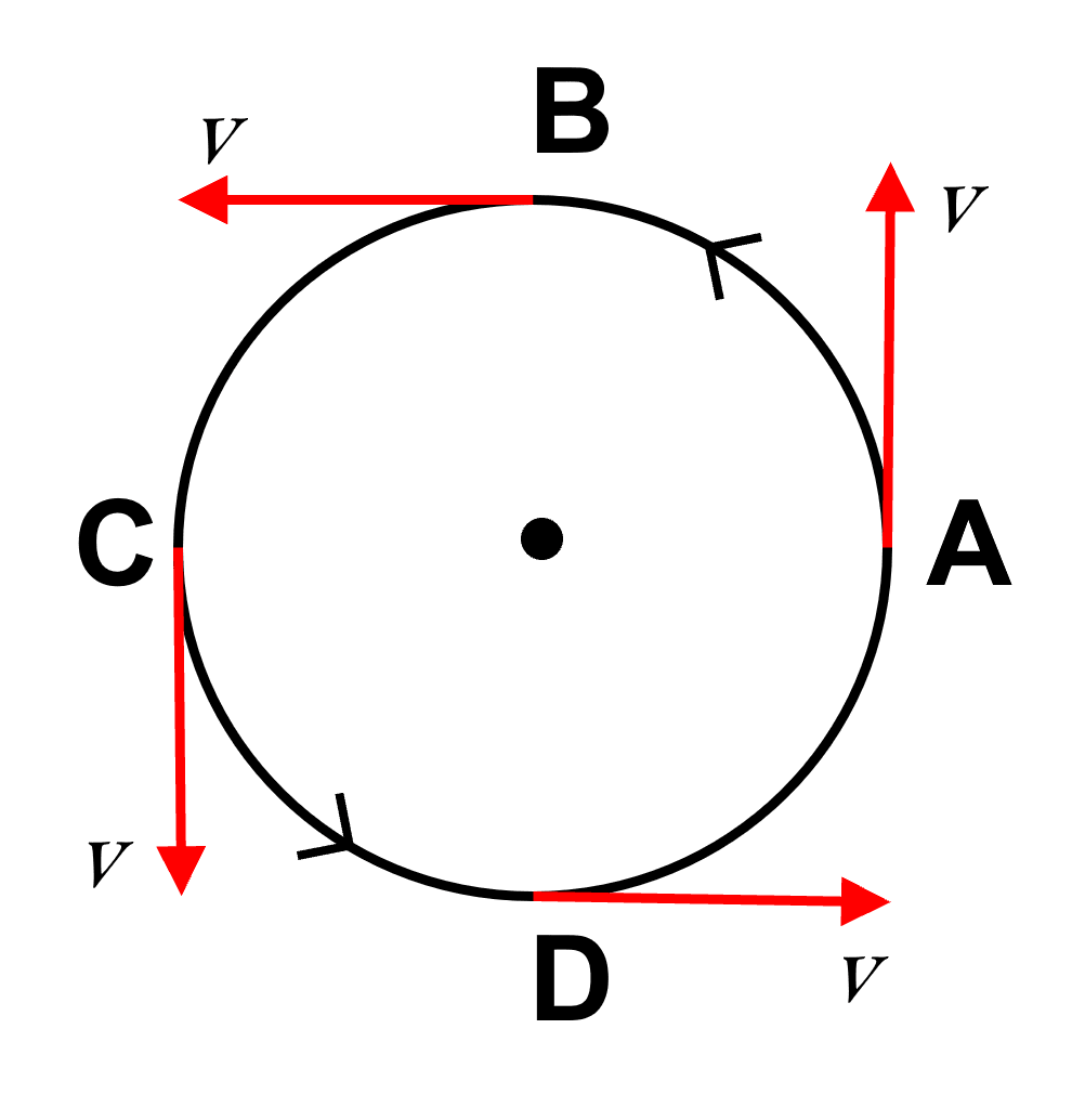 Give an example of motion of a body moving with a constant speed, but with a variable velocity. Draw a diagram to represent such a motion. Motion in one dimension, Concise Physics Solutions ICSE Class 9.