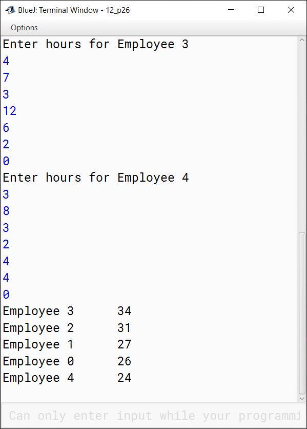 BlueJ output of KboatABCConsulting.java