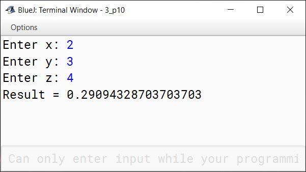 BlueJ output of KboatExpression.java