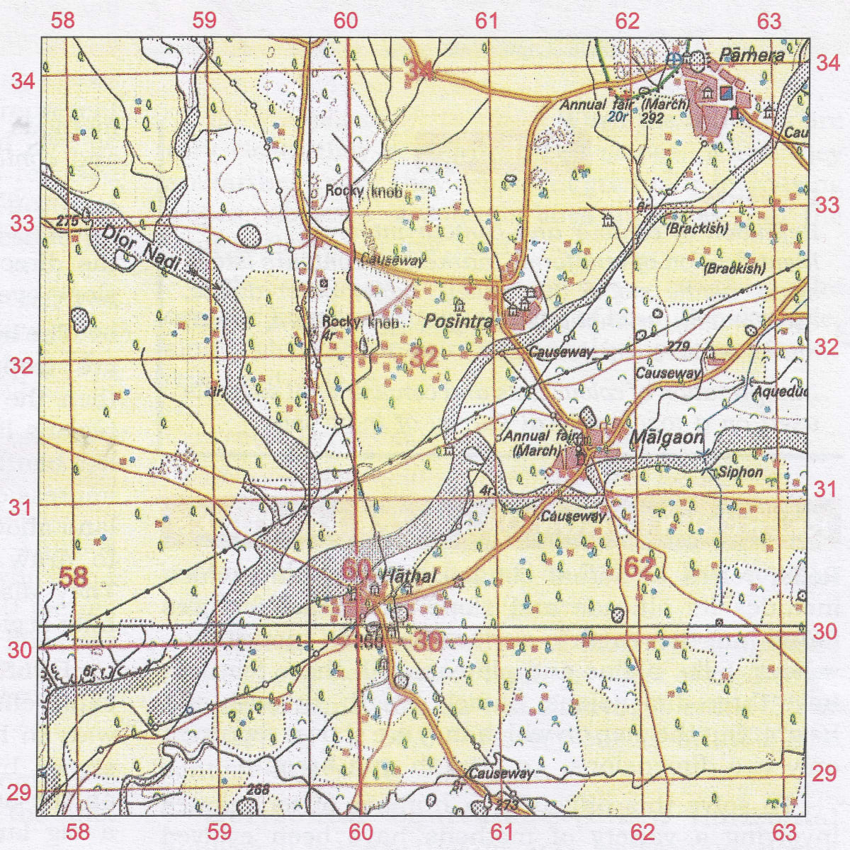Give four-figure grid reference. Chapter 1 Interpretation of Topographical Maps, Total Geography ICSE Class 10