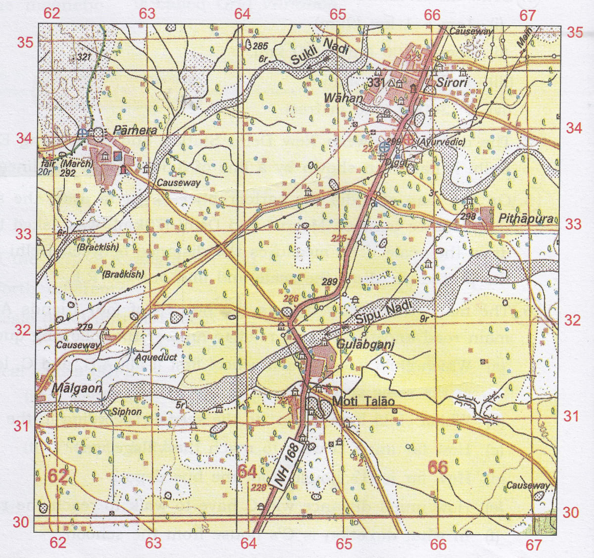 Study map extract and answer questions. Chapter 3 Scales and Direction, Total Geography ICSE Class 10